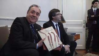 Salmond i Puigdemont en la trobada que han tingut aquest dimecres