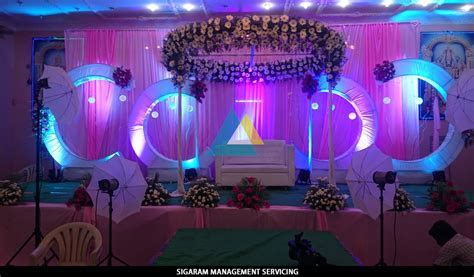Wedding Decoration at Samikannu Tirumana Mandapam