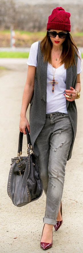 Zara Long Line Pinstripes Westcoat