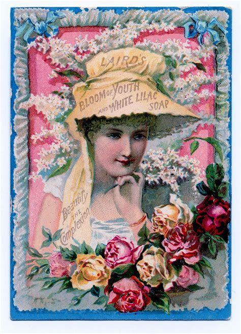 Victorian Clip Art   Pretty Lady Soap Advertisment   The