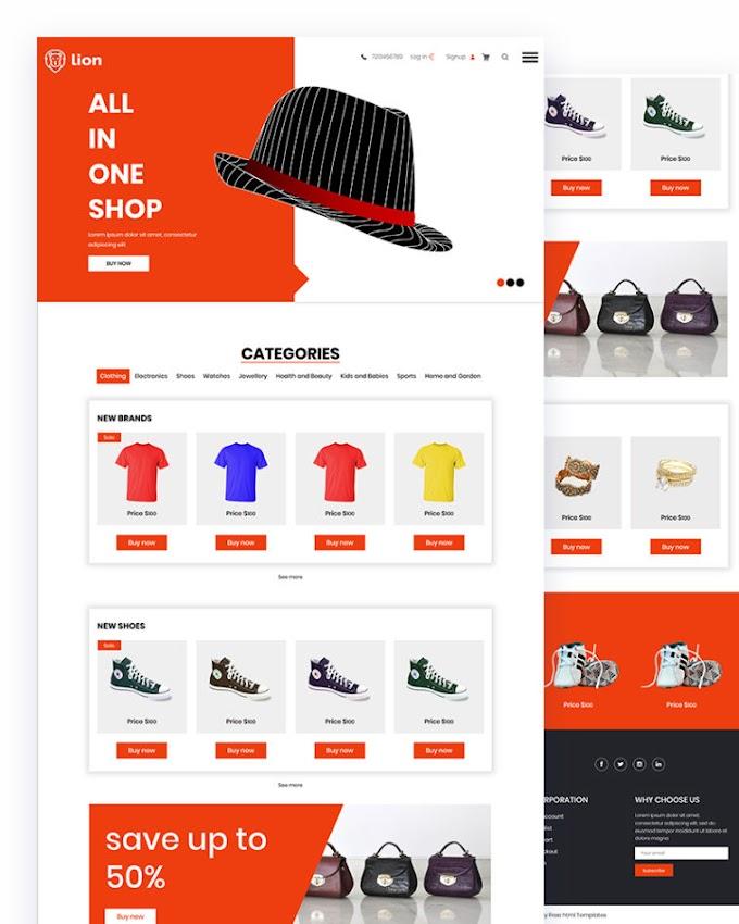 Lion – Ecommerce Website Html Template