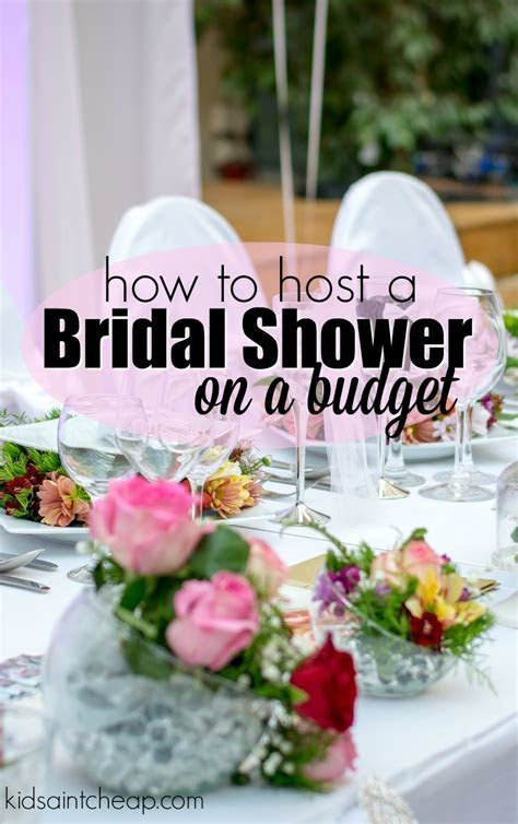 Hosting a Bridal Shower on a Budget   Kids Ain't Cheap