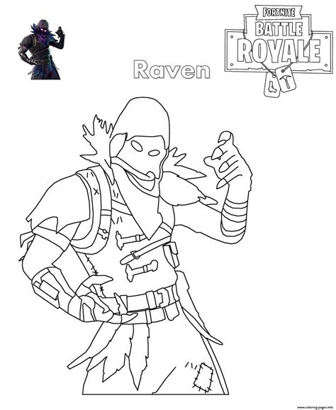 fortnite raven coloring pages printable