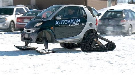 'Only in Canada': Smart car transformed into snow car