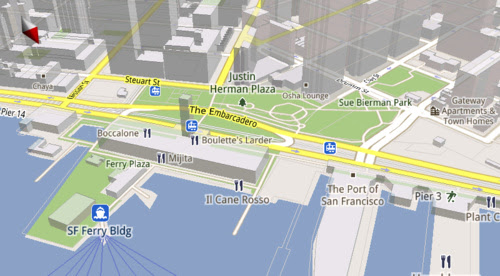 Google Maps for Android Now Faster, Smoother, in 3D and Works Offline
