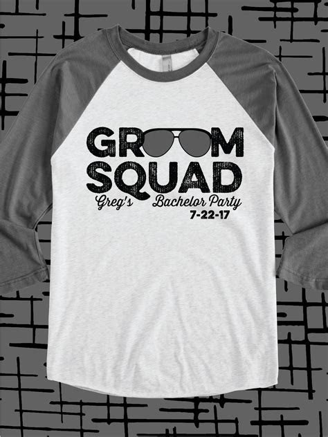 Groom Squad design idea for custom bachelor party t shirts