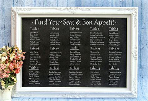 Reception Seating Charts 101