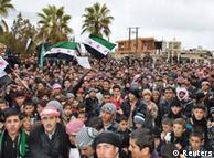 Demonstrationen gegen Assad in Syrien (Foto: Reuters)