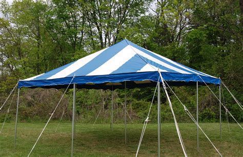 16' by 16' Party Canopy and White Frame Tent Layouts