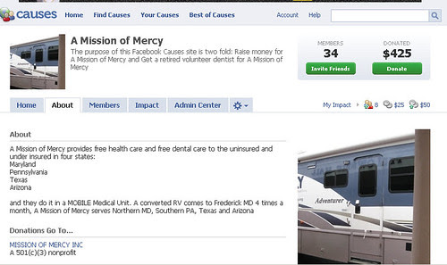 A Mission Of Mercy Facebook Causes