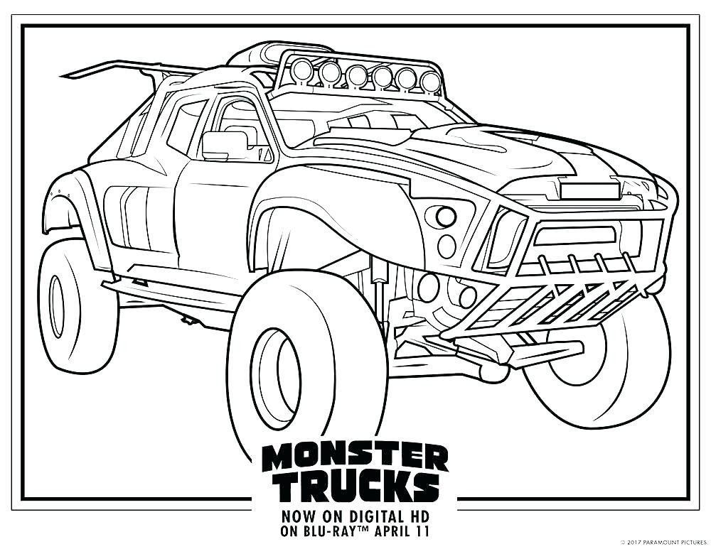 Monster Truck Grave Digger Coloring Pages at GetColorings ...