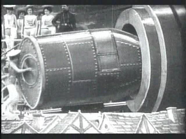 Imagen : Viaje a la luna 1902, fotograma : Cohete