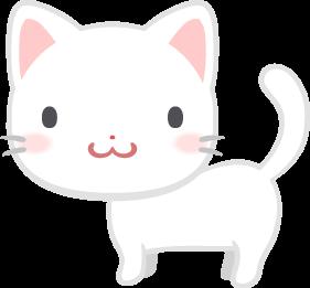 白い子猫の無料ベクターイラスト素材 Picaboo ピカブー 無料