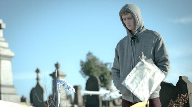 Kieran visits his own grave