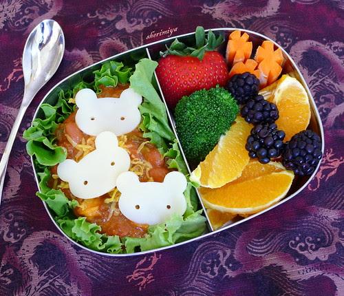 Three Bears Chili Bento by sherimiya ♥