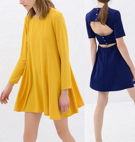 vestidos de zara para mujer primavera 2014 espalda al aire