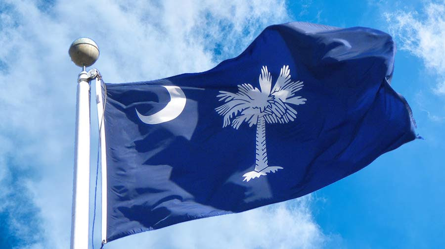 South Carolina State Flag Large Greater Charleston Restaurant
