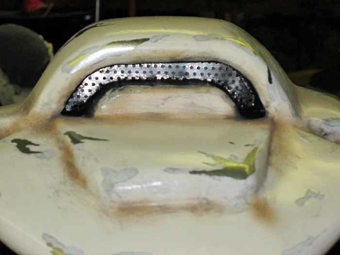 SM Terminator Helmet Top Vent Detail