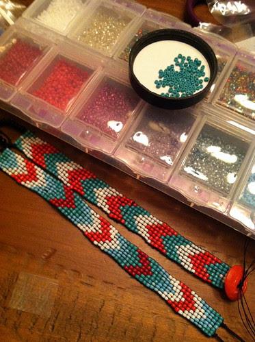 coordinating beaded bracelets