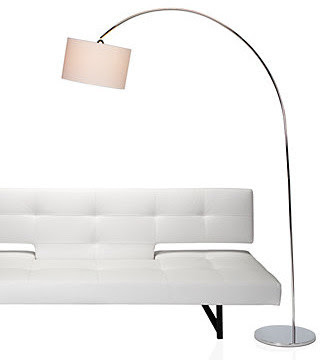 Enzo Floor Lamp - Chrome - modern - floor lamps - - by Z Gallerie