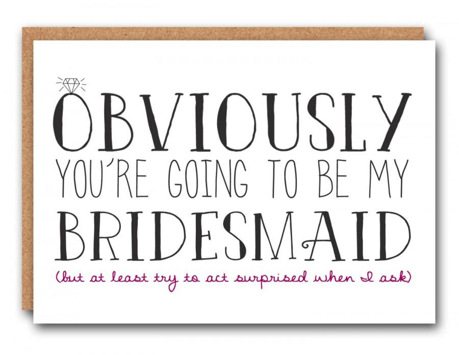 Funny Bridesmaid Card Bridesmaid Ask Card Bridesmaid Card Bridal
