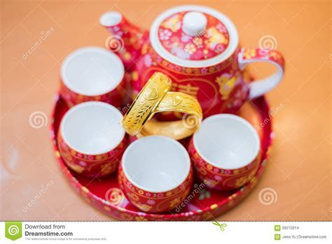 Chinese Traditional Tea Set Used In Chinese Wedding Tea