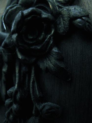 roses on coat rack