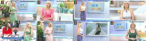 Ana Hickmann sensual a apresentar o Hoje em Dia
