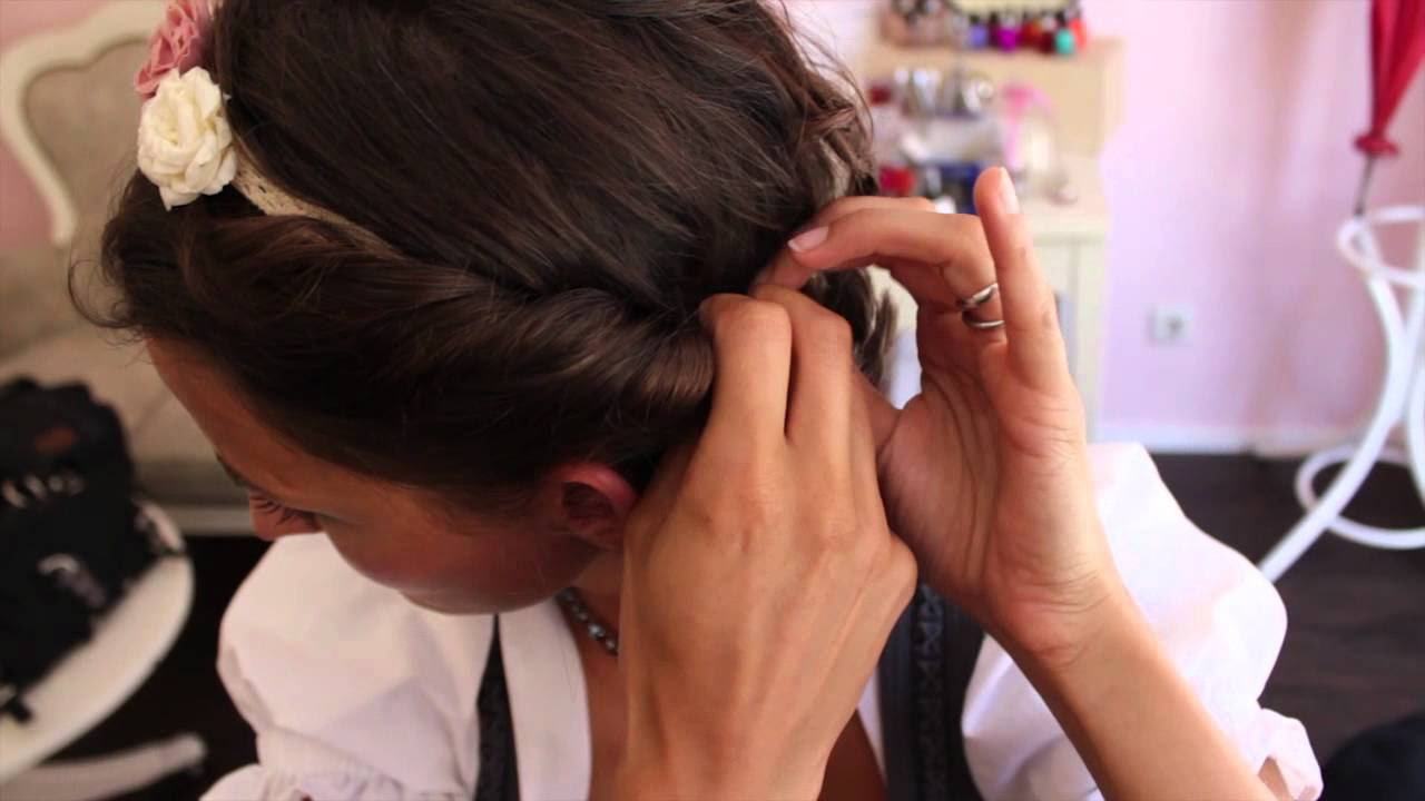 Dirndl Frisuren Selber Machen Video Schnell Lange Haare