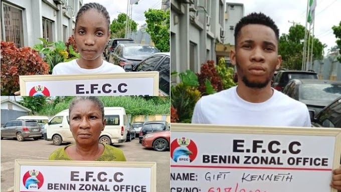 NEWS: Drama As Nigerian Man Alongside His Mother And Girlfriend Are Jailed For Internet Fraud In Asaba