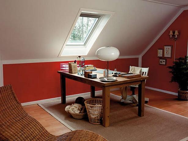 Raumgestaltung farbe dachschräge