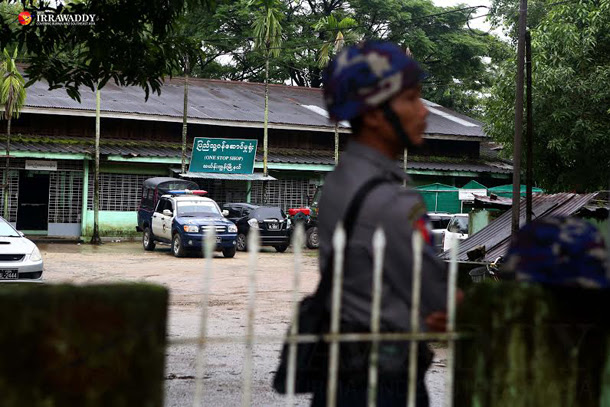 The government compound in Rangoon's Thingangyun Township, seen on Tuesday afternoon. (Photo: Myo Min Soe / The Irrawaddy)