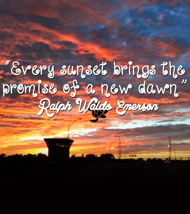 Ralph Waldo Emerson Sunset Quote