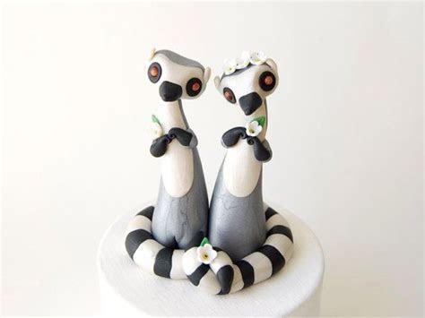 Lemur Wedding Cake Topper   Ring tailed Lemur by Bonjour