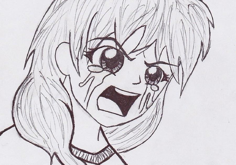 Depressed Sad Anime Girl Crying Drawing Easy Jameslemingthon Blog