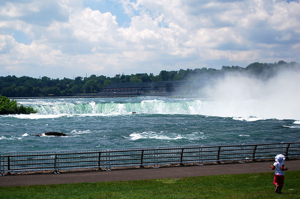 The Niagara River as it makes it's way to the Falls
