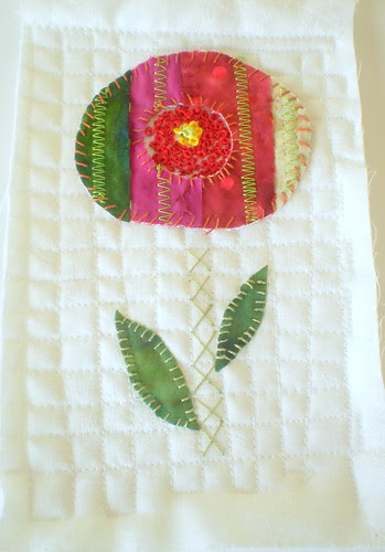 abstract flower quilt