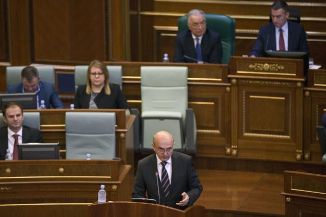 Mustafa addresses the Assembly on Wednesday (Tanjug)