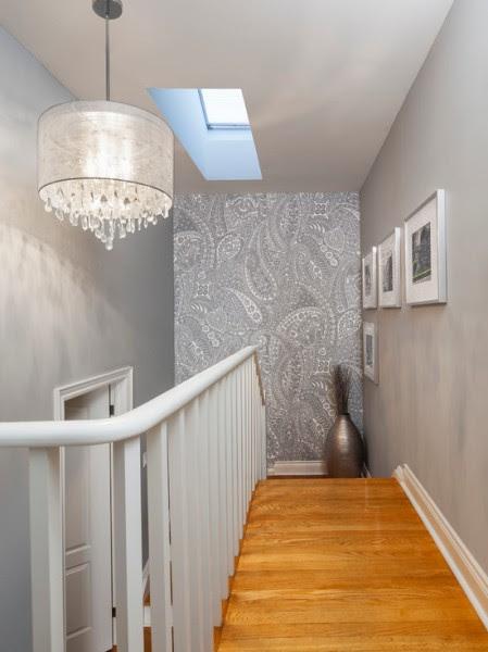 Silver Hallway Wallpaper - Beautiful Homes Design