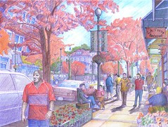 Brookland's envisioned Main Street - Image from Baker Projects