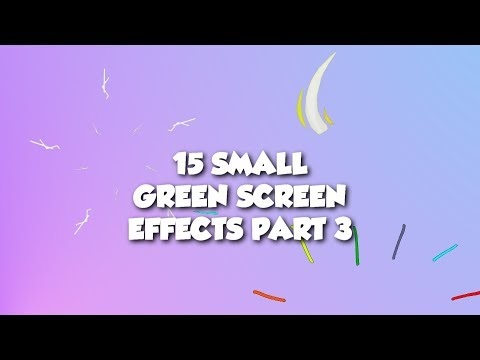 ✴️ 15 Small Green Screen Effects Part 3 | Bursts | Fireworks | Stars | Shapes