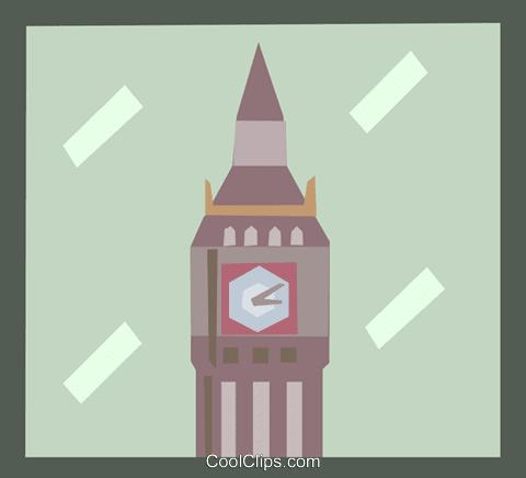 時計台 ロイヤリティ無料ベクタークリップアートイラスト Arch0477