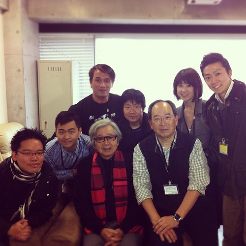 With legendary director Yoji Yamada, along with my crew
