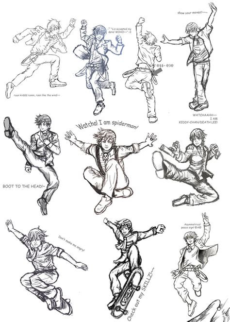 dtk poses collage sketches  allysao  deviantart