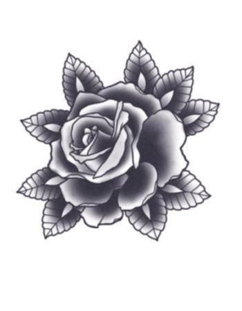 Black Rose Temporary Tattoorealistic Fake Tattoofake Tattoos