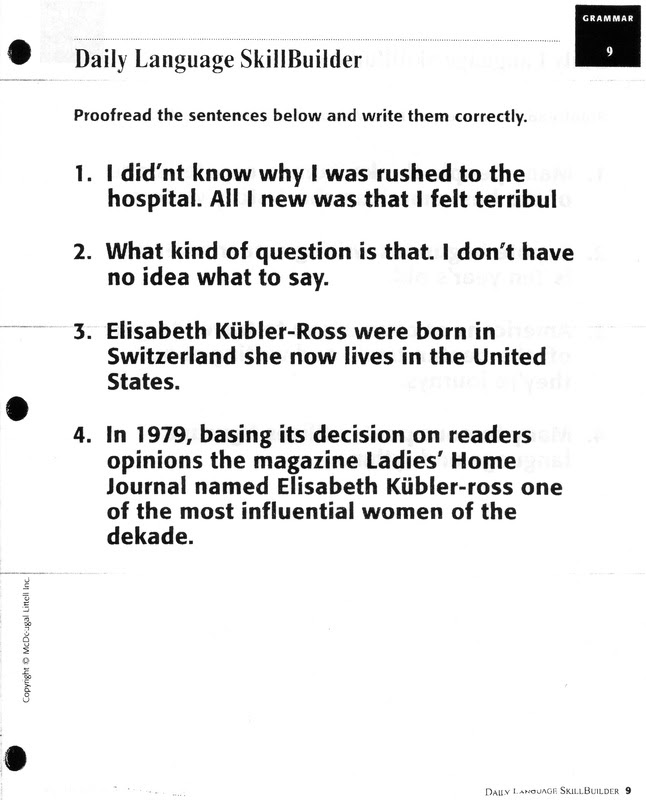 15 Best Images of 2nd Grade Sentence Correction Worksheets  2nd Grade Writing Worksheets