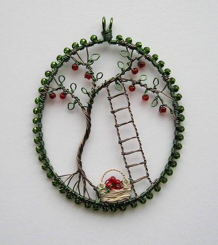 Apple Picking Pendant by Louise Goodchild