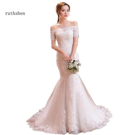 ruthshen Vintage Lace Mermaid Wedding Dresses With Sleeves