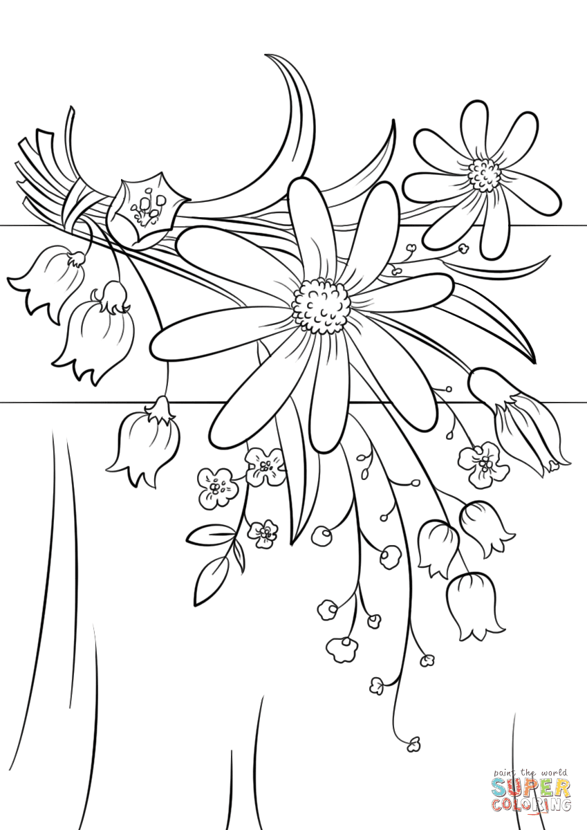 Summer Flowers coloring page | Free Printable Coloring Pages