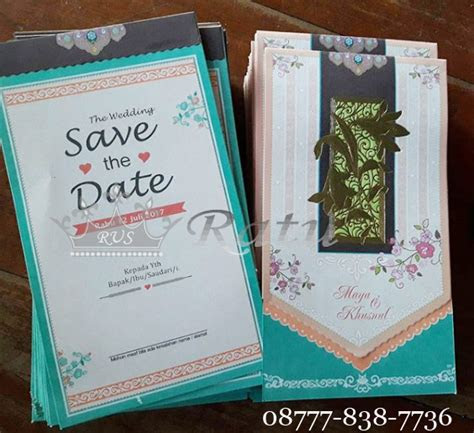 blangko undangan pernikahan unik lucu  elegant ratu